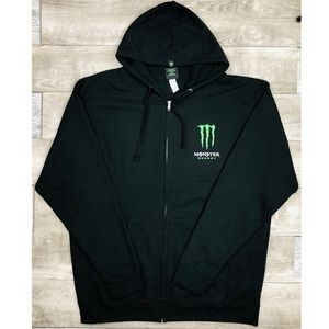 NWOT MONSTER ENERGY MENS ZIP UP HOODIE SWEATER